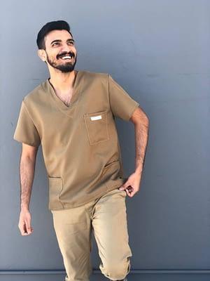 Affordable medical scrubs for sale - Khaki