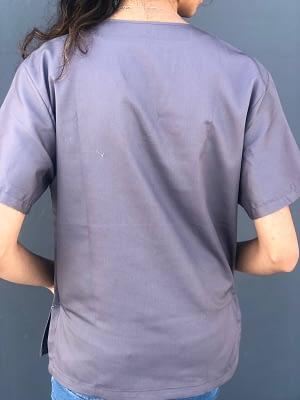 Medical scrubs for sale - Metallic Grey - BACK