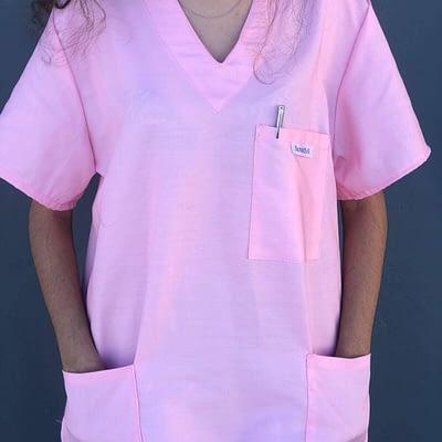 Medical scrubs for sale - Bubblegum Pink SIDE.jpeg ATTACHMENT DETAILS Medical scrubs for sale - Bubblegum Pink FRONT